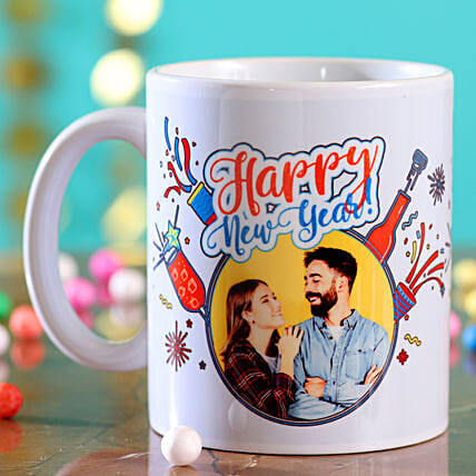 Personalised Picture Happy New Year Mug:Send New Year Gifts to USA