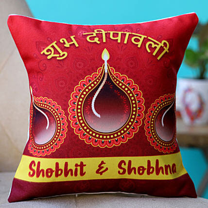 printed wishes diwali cushion for couple
