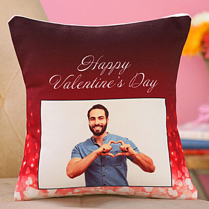 printed cushion for him on vday