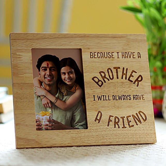 custom photo frame for bhai dooj online