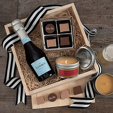 Premium Luxury Champagne Gift Crate:Hampers USA