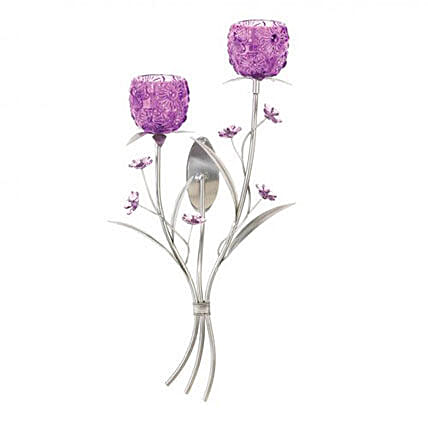 Purple Blooms Wall Sconce