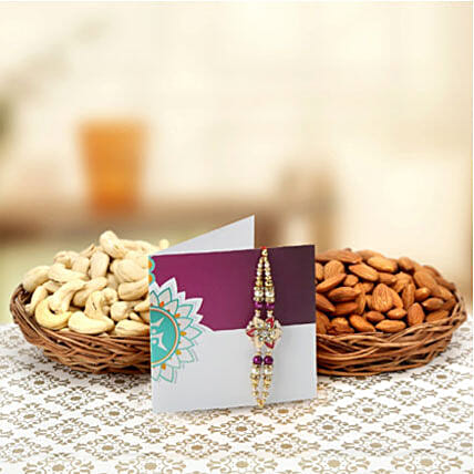 Rakhi and dry fruits