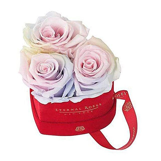 Red Velvet Gift Box With Roses