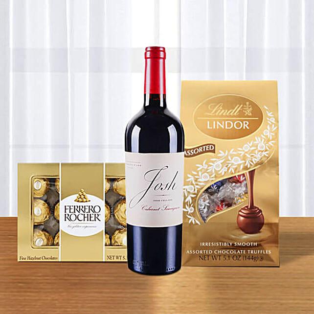 Red Wine With Ferrero Rocher N Lindt Lindor Truffles