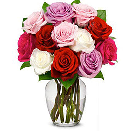 Romantic One Dozen Roses Bouquet
