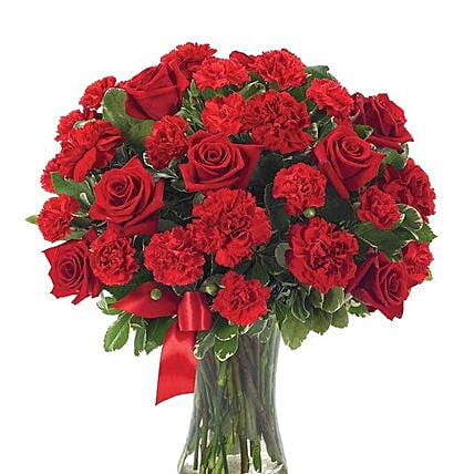 Romantic Red Flower Vase