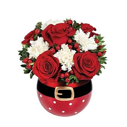 Santas Surprise Floral Bouquet:Christmas Gift Delivery in USA