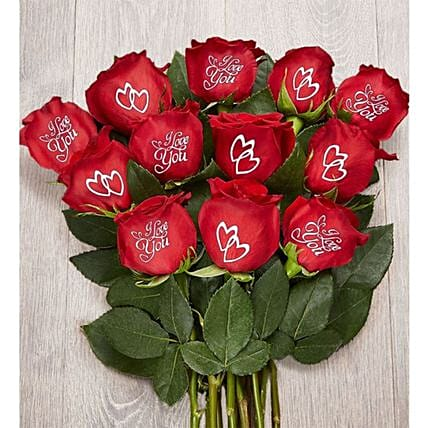 Set Of Romantic Roses