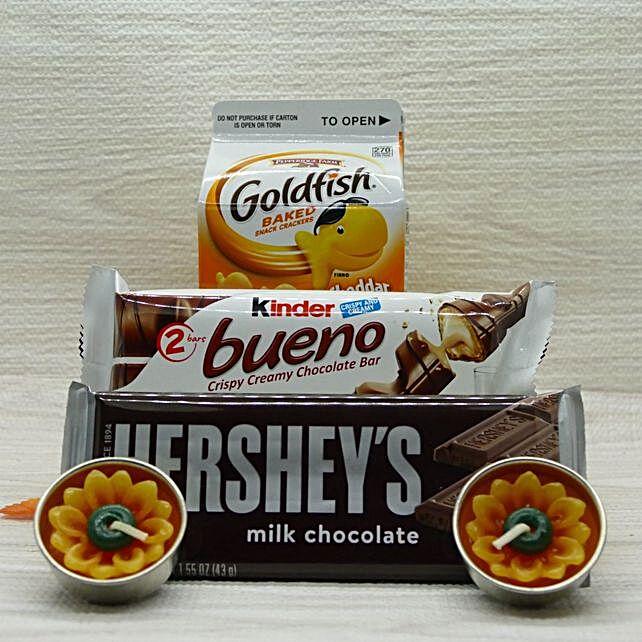 Snacks And Flower Diya Combo