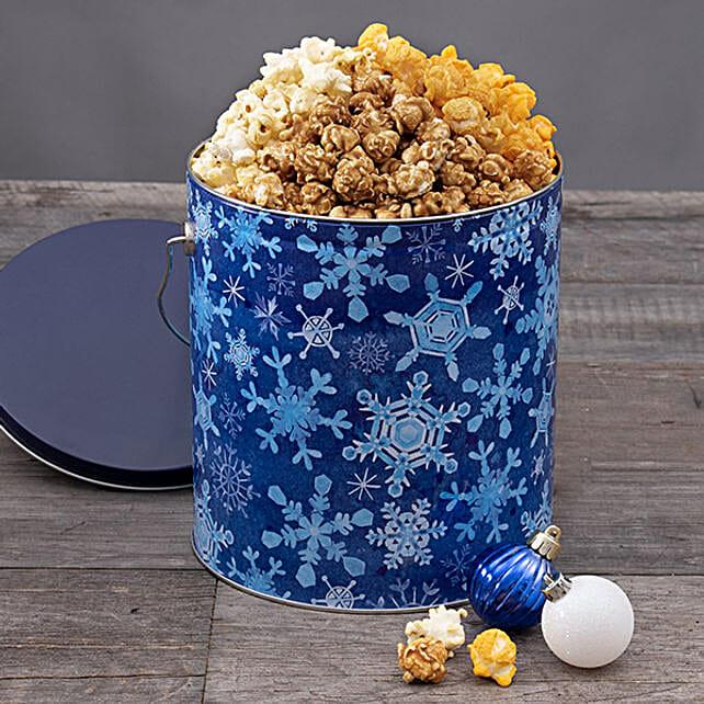 Snowflake Halloween Popcorn Tin:Popcorn Hampers To USA