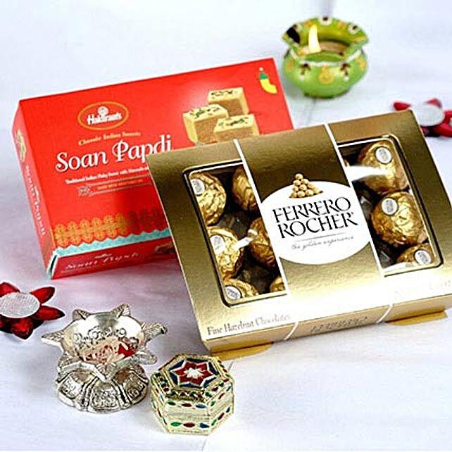 Soan Papdi N Ferrero Rocher Bhai Dooj Hamper