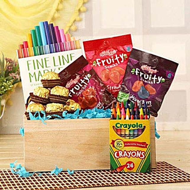 Tasty N Colorful Basket