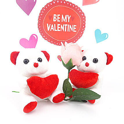 Teddies With Red Heart
