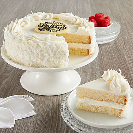 Tempting Coconut Vanilla Cream Cake