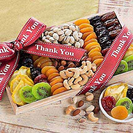 Thank You - Dried Fruit and Nut Collection:House Warming Gifts to USA