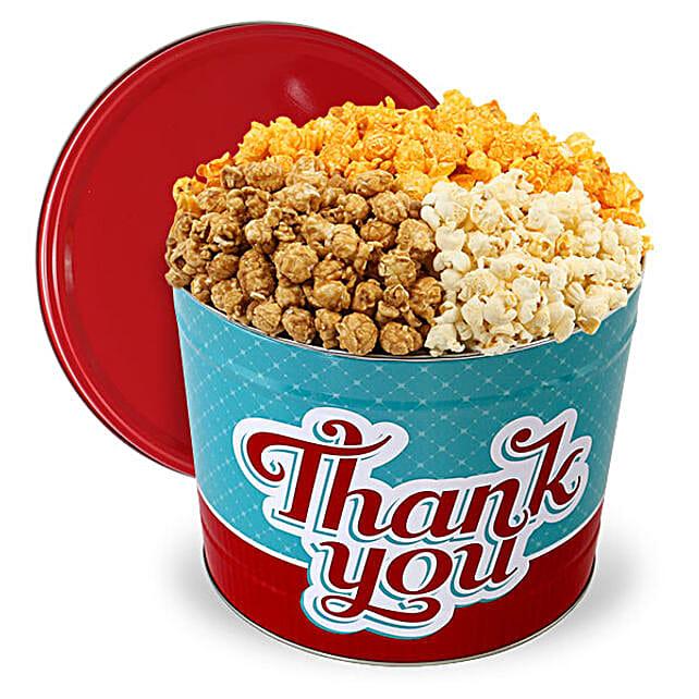 Thank You Popcorn Tin 1 Gallon