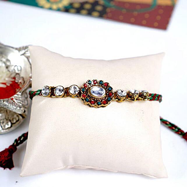 Traditional Kundan Rakhi