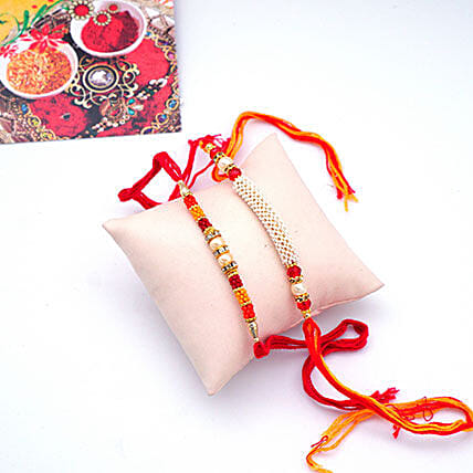 Crystal Rakhi Set Of 2
