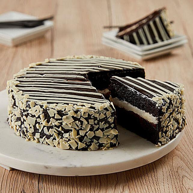 Black and White Mousse Cake Cakes Birthday