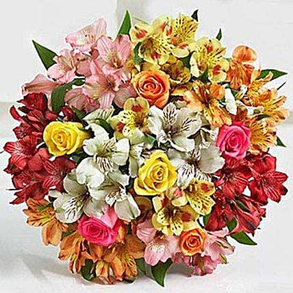 Assorted Lilies And Roses:Lilies