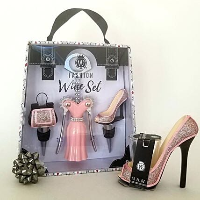 Wine Accessories Gift Setlight Pink