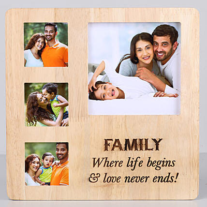 One Personalised Wooden frame with engrave message online:Rakhi Gifts for Sister in USA
