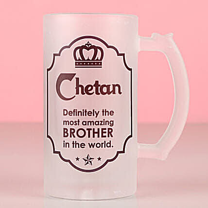 Amazing Brother Personalised Beer Mug