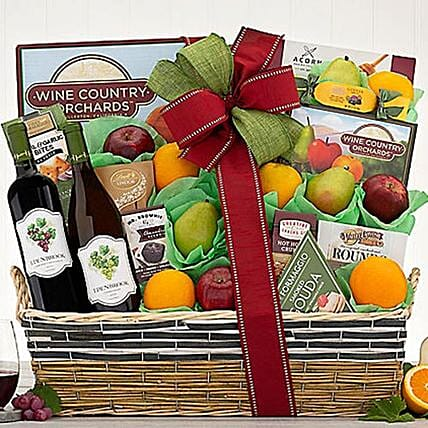 Callister Cellars Wine and Fruit Collection Gift Basket