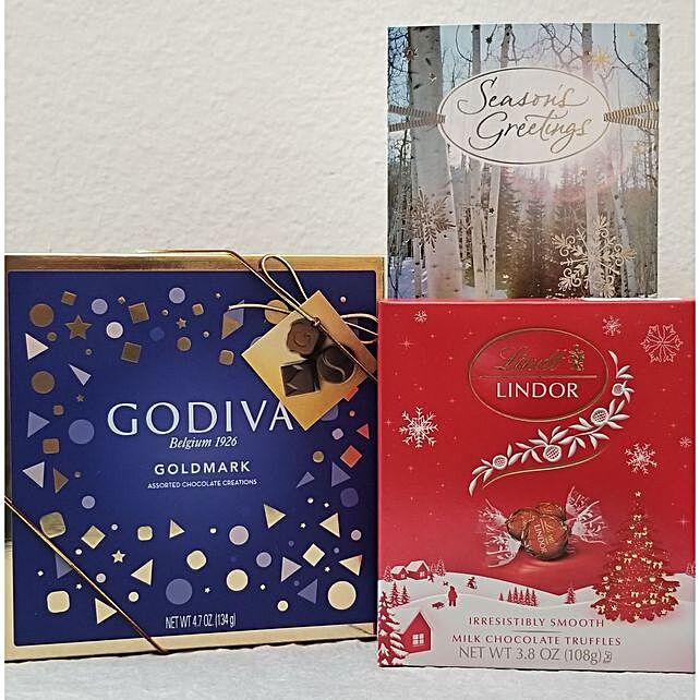 Godiva N Lindor Chocolate Gift Set