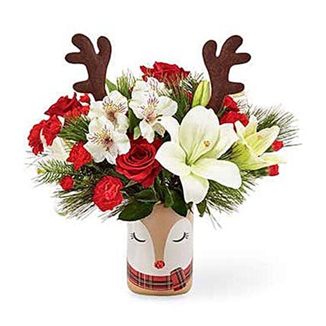 Christmas Reindeer Flower Bouquet