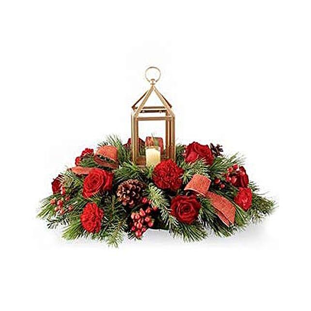 Festive Evergreen Centerpiece