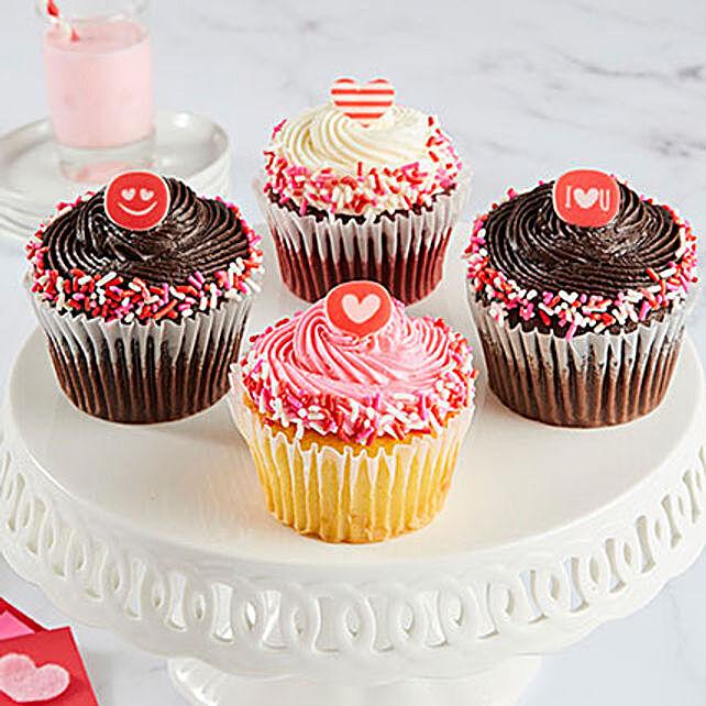 Valentine Special Jumbo Cupcakes Set