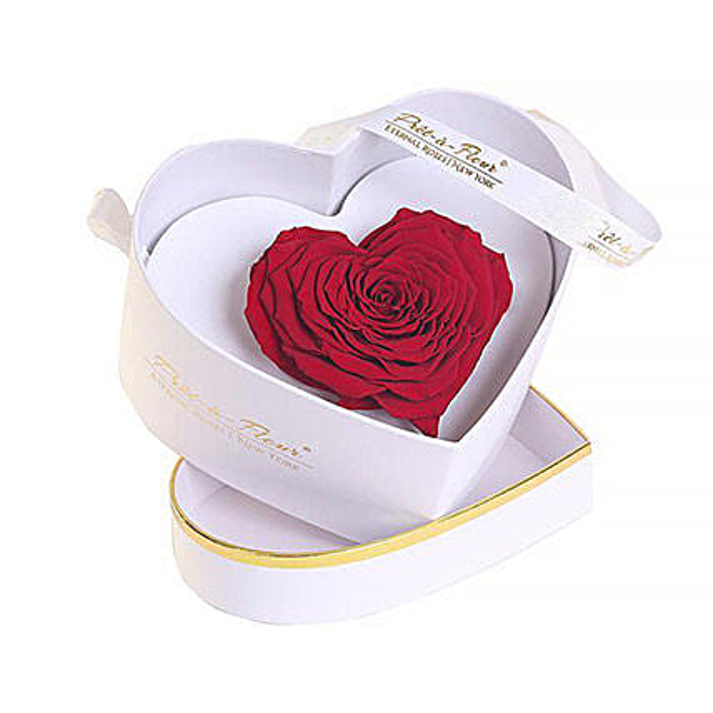 Chelsea Eternal Rose White Box:Send Forever Roses to USA