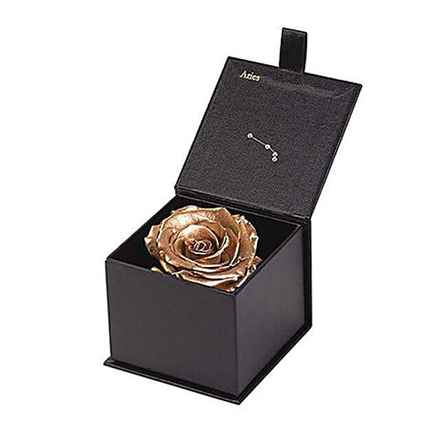 Eternal Rose Aries Box Gold