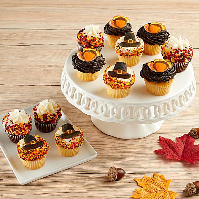 Mini Thanksgiving Cupcakes