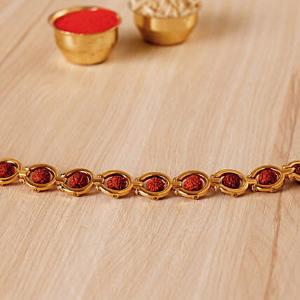 Divine Golden Red Rudraksh Bracelet