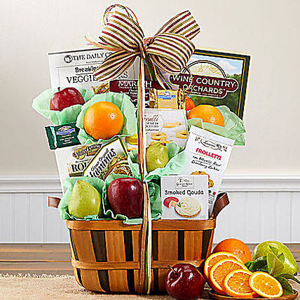 Wine Country Fruit and Favorites:Send Friendship Day Gifts to USA