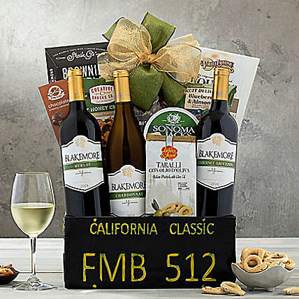 California Classic Gift Basket:Gifts to Stamford