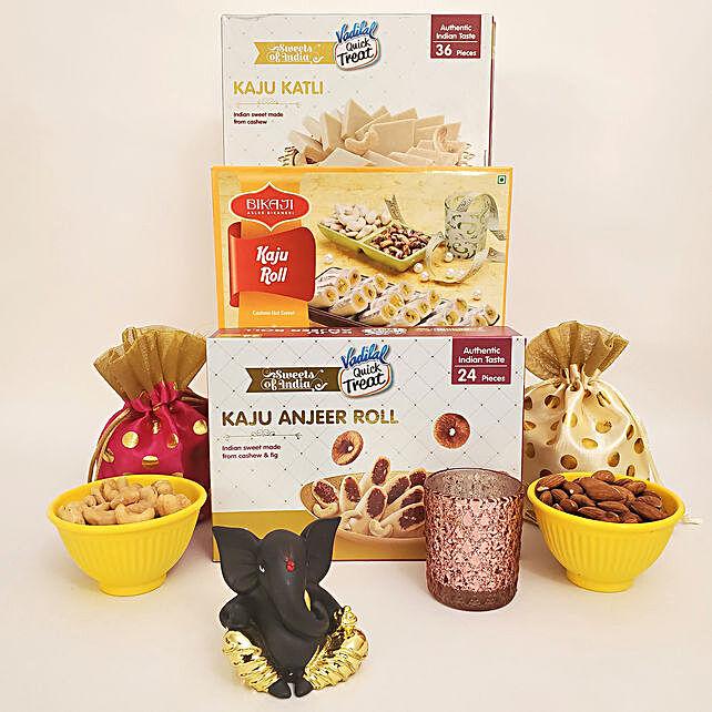 Traditional Sweets Diwali Extravaganza With Ganesha Idol:USA Sweets