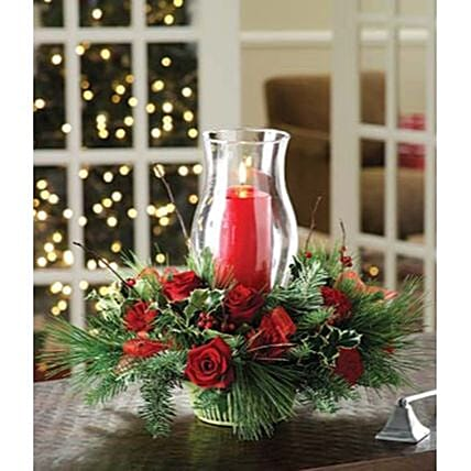 Christmas Holiday Floral Centerpiece