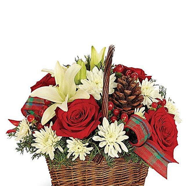 Exotic Rustic Christmas Basket
