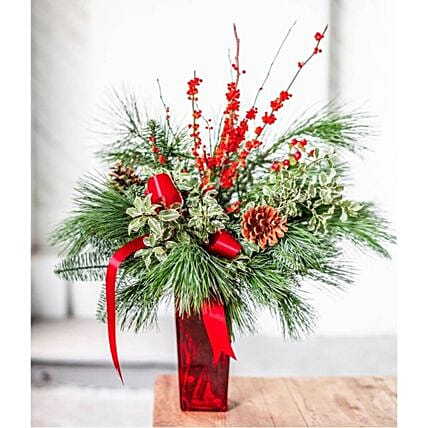 Floral Evergreen Christmas Boughs