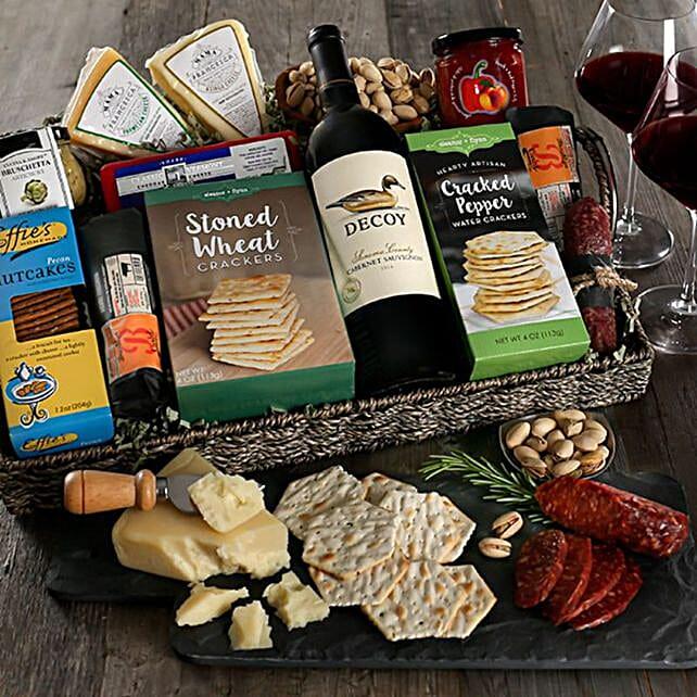 Premium Artisan Charcuterie And Wine Tray