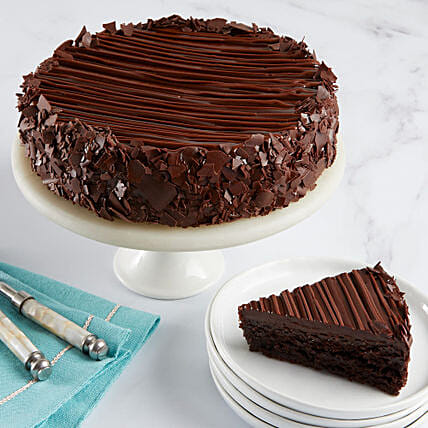 Triple Chocolate Enrobed Brownie Cake Cakes Birthday:Send Cakes to USA