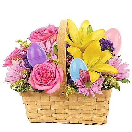 Easter Special Lovely Assorted Flowers Arrangement