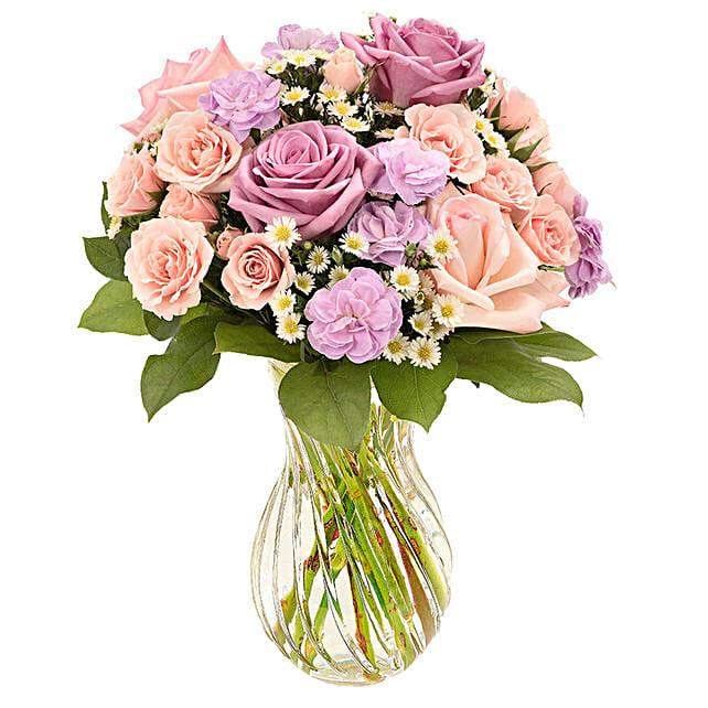 Timeless Assorted Flowers Vase Arrangement