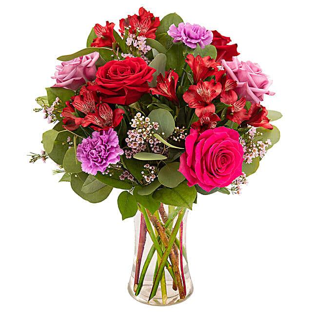 Classic Assorted Flowers Vase Arrangement