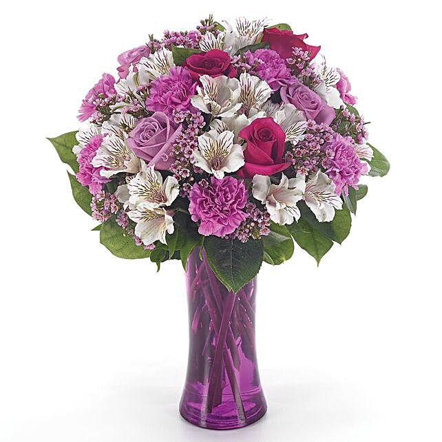 Heavenly Assorted Flowers Vase Arrangement