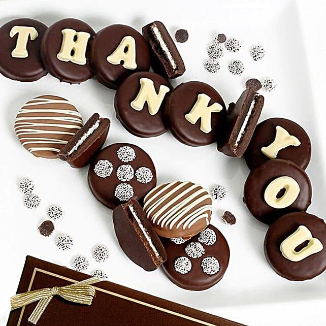 Belgian Chocolate Thank You Oreo Cookies